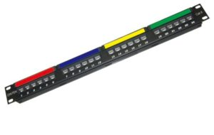 Patch panel 24 port, CAT.5e Dintek