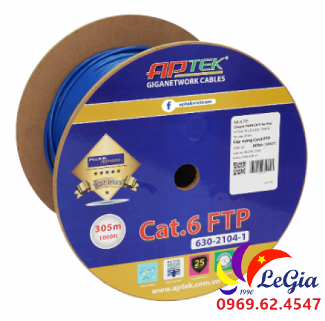 Cáp mạng APTEK CAT.6 FTP