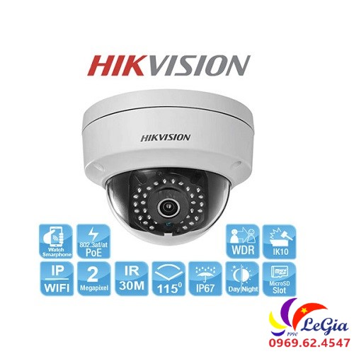 Camera không dây 2MP DS-2CD2121G0-IWS